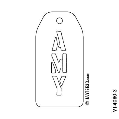 X-Large Vertical Tag - Short Name