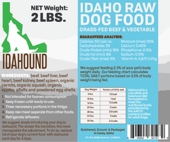 Beef & Vegetable Raw Food (2 lbs.)
