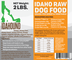 Sheep & Vegetable Raw Dog Food (2 lbs.)