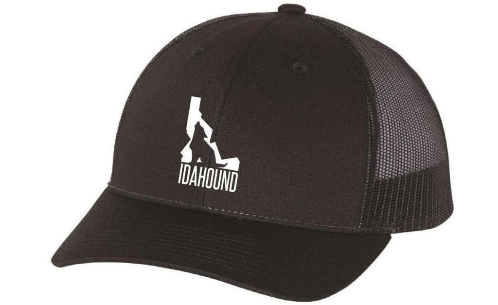 Idahound Snap-back Trucker Hat - Black/White