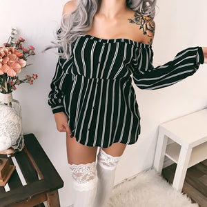Kandy Striped Blouse Dress