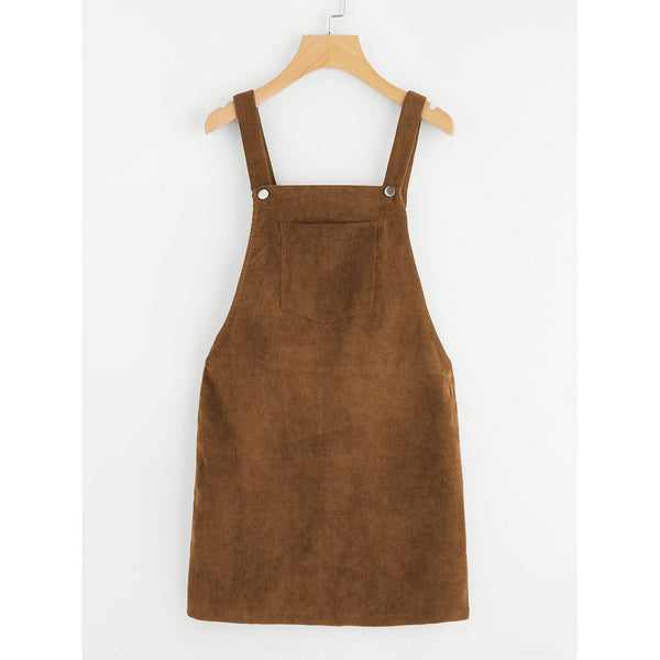 BROWN FRONT POCKET OVERALL