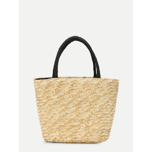 LETTER WOVEN TOTE BAG