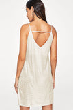 BACKLESS METALLIC CAMI DRESS