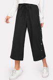 BUTTON SIDE CULOTTE PANTS