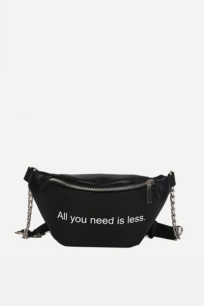 BLACK POCKET WAIST BAG