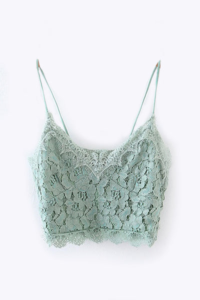LACE CROPPED CAMI TOP