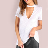 WHITE CHOKER T-SHIRT