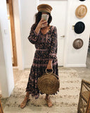 ROUND STRAW TOTE BAG