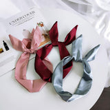 RIBBON SILK SCARF