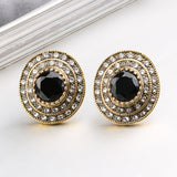 LARGE CRYSTAL STUD EARRINGS