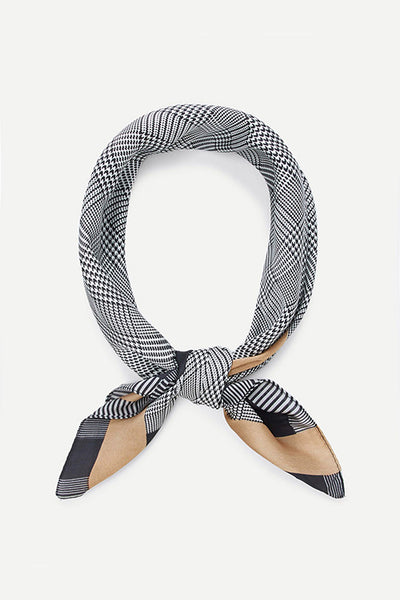 CHECKED NECK SCARF