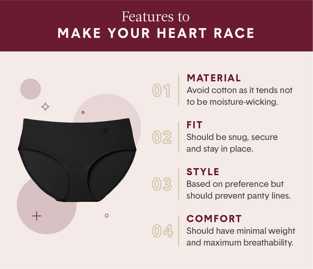 4 features that make up the best running underwear for women including material, fit, style and comfort