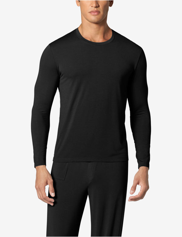 Second Skin Lounge Long Sleeve Crew Neck Tee
