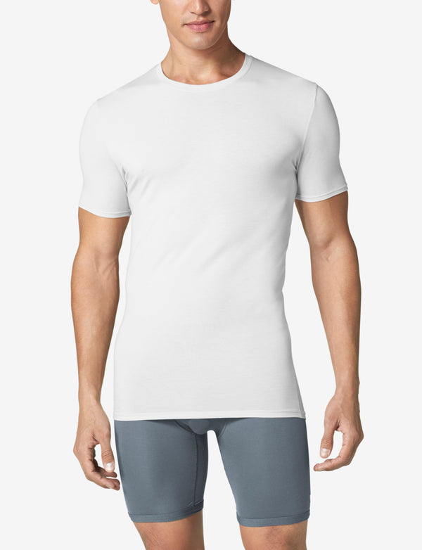 Second Skin Crew Neck Stay-Tucked Undershirt
