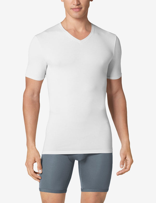 Second Skin High V-Neck Stay-Tucked Undershirt