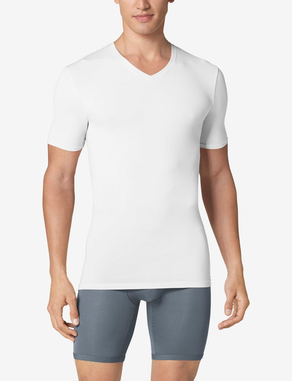 Cool Cotton High V-Neck Stay-Tucked Undershirt