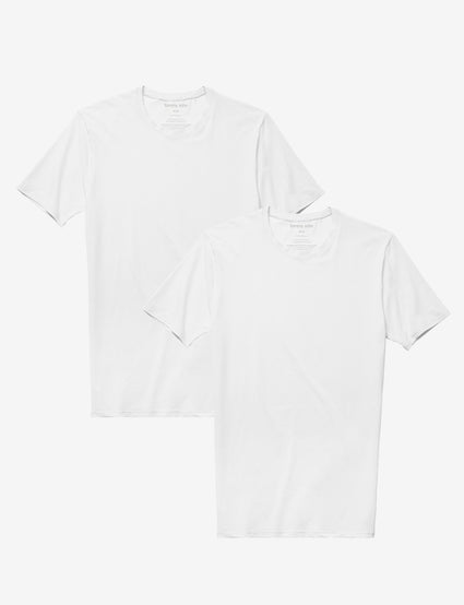 Cotton Basics Crew Neck Stay-Tucked Undershirt 2 Pack