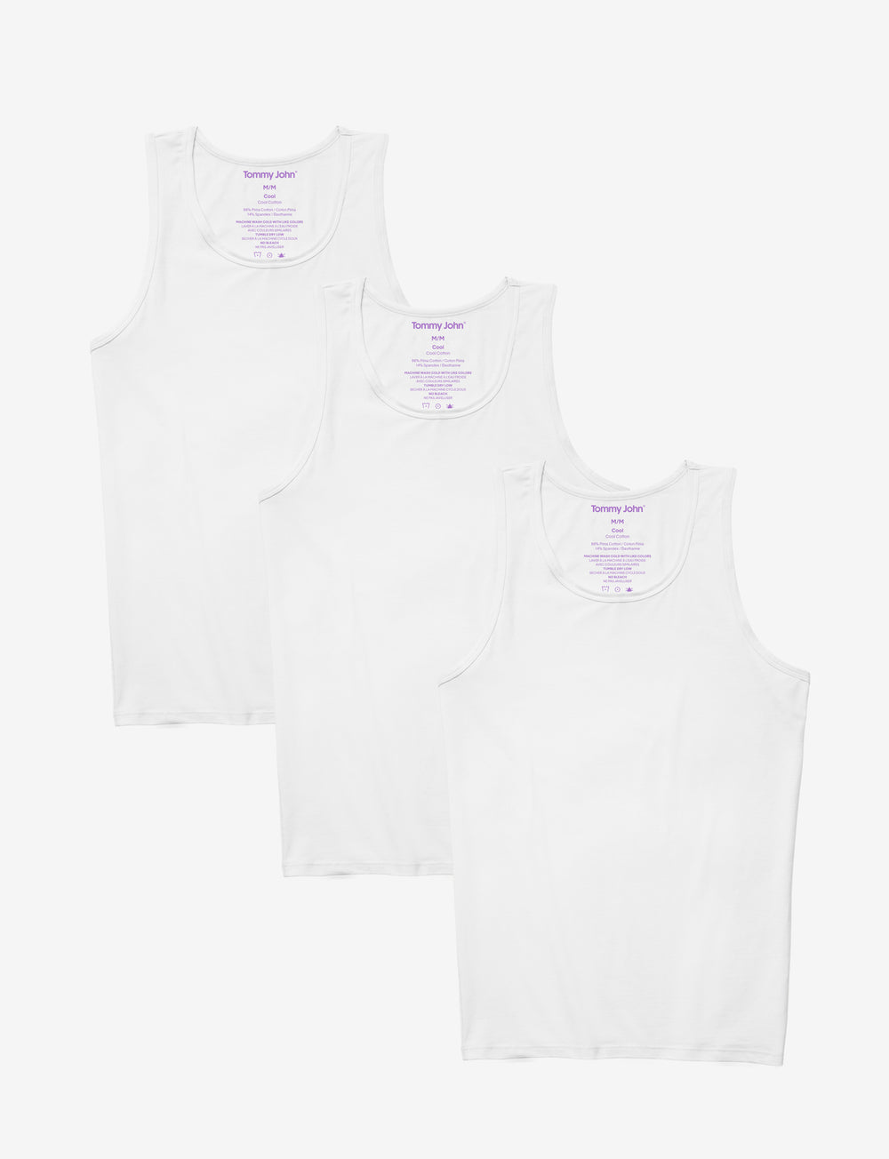 Cool Cotton Tank 3 Pack Details Image