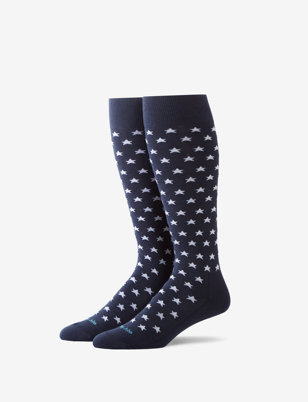 Usa Stars Over The Calf Dress Sock