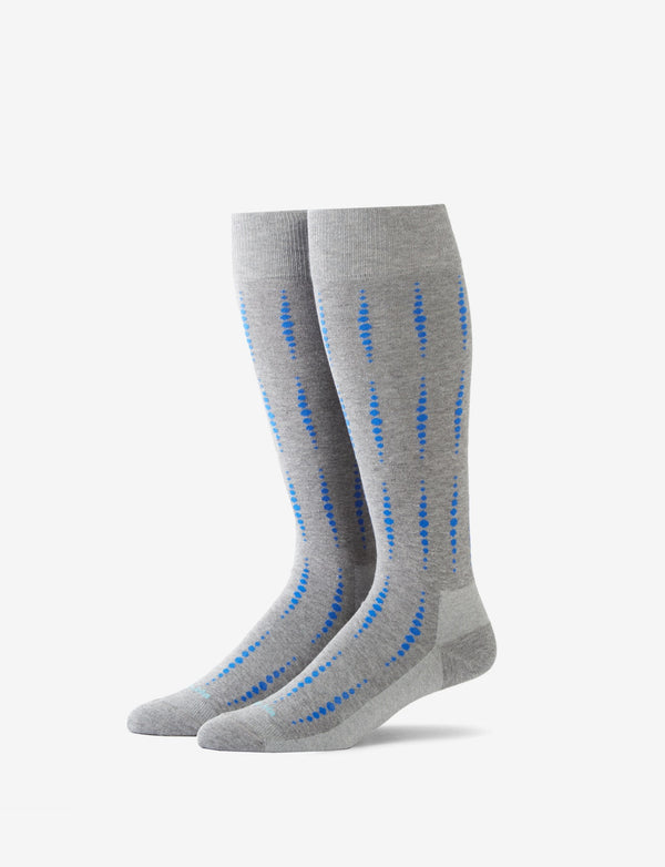 Dotted Pinstripe Stay-Up Dress Sock
