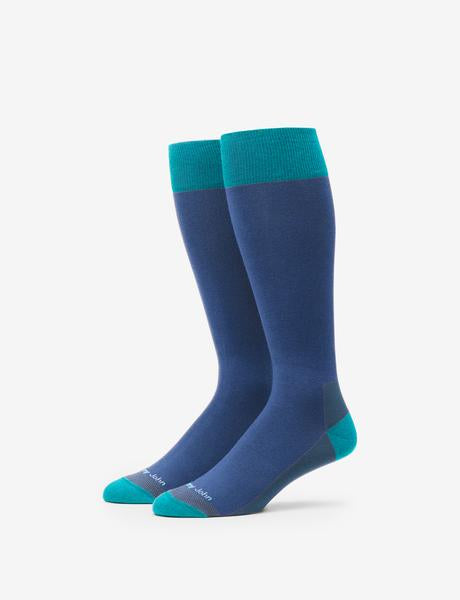Color Block Stay-Up Dress Sock Details Image
