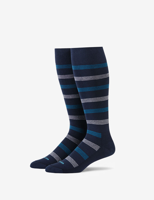 Warwick Stripe Stay-Up Dress Sock