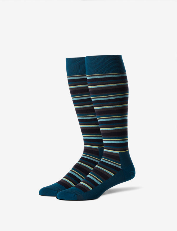 Stripe Stay-Up Dress Sock