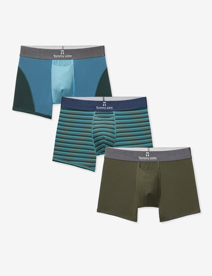 basic editions mens 3-pack knit boxer shorts