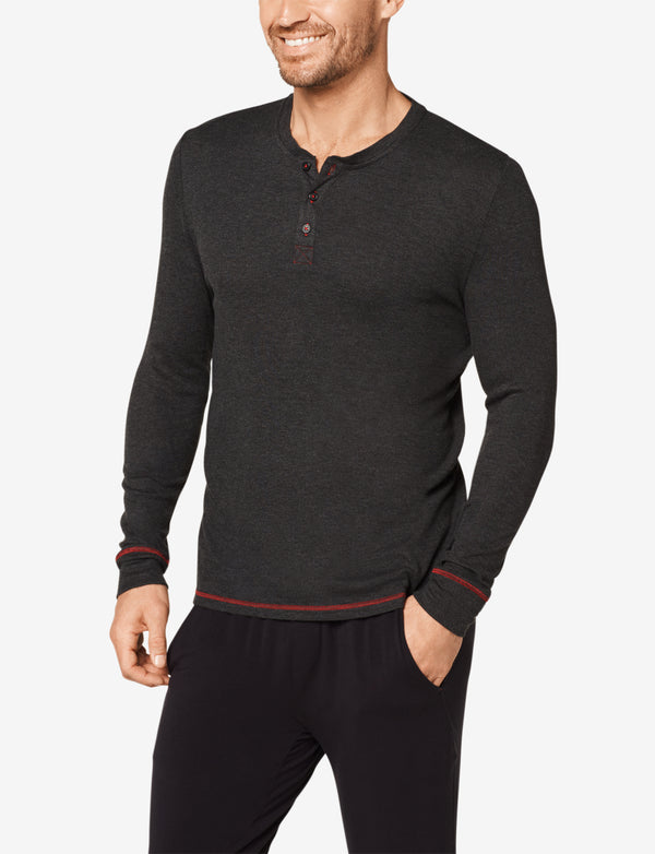 Long Sleeve Ribbed Henley