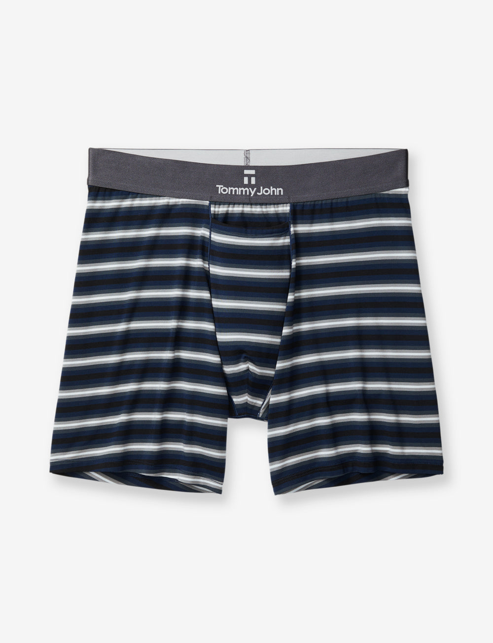Second Skin Dark Titanium Stripe Relaxed Fit Boxer Details Image