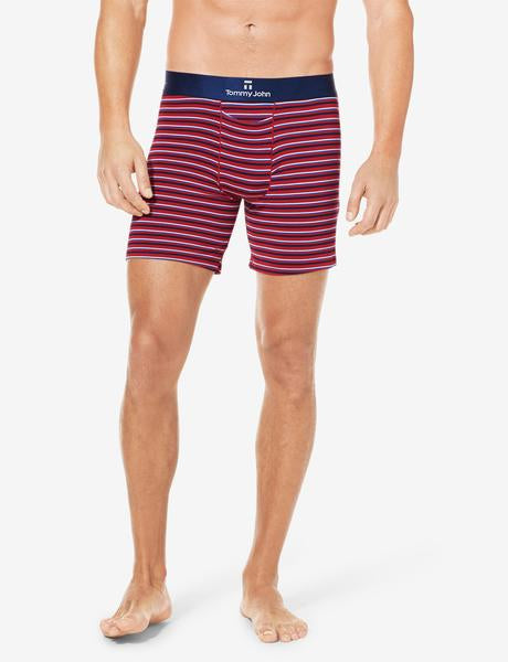 Second Skin Titanium Stripe Relaxed Fit Boxer