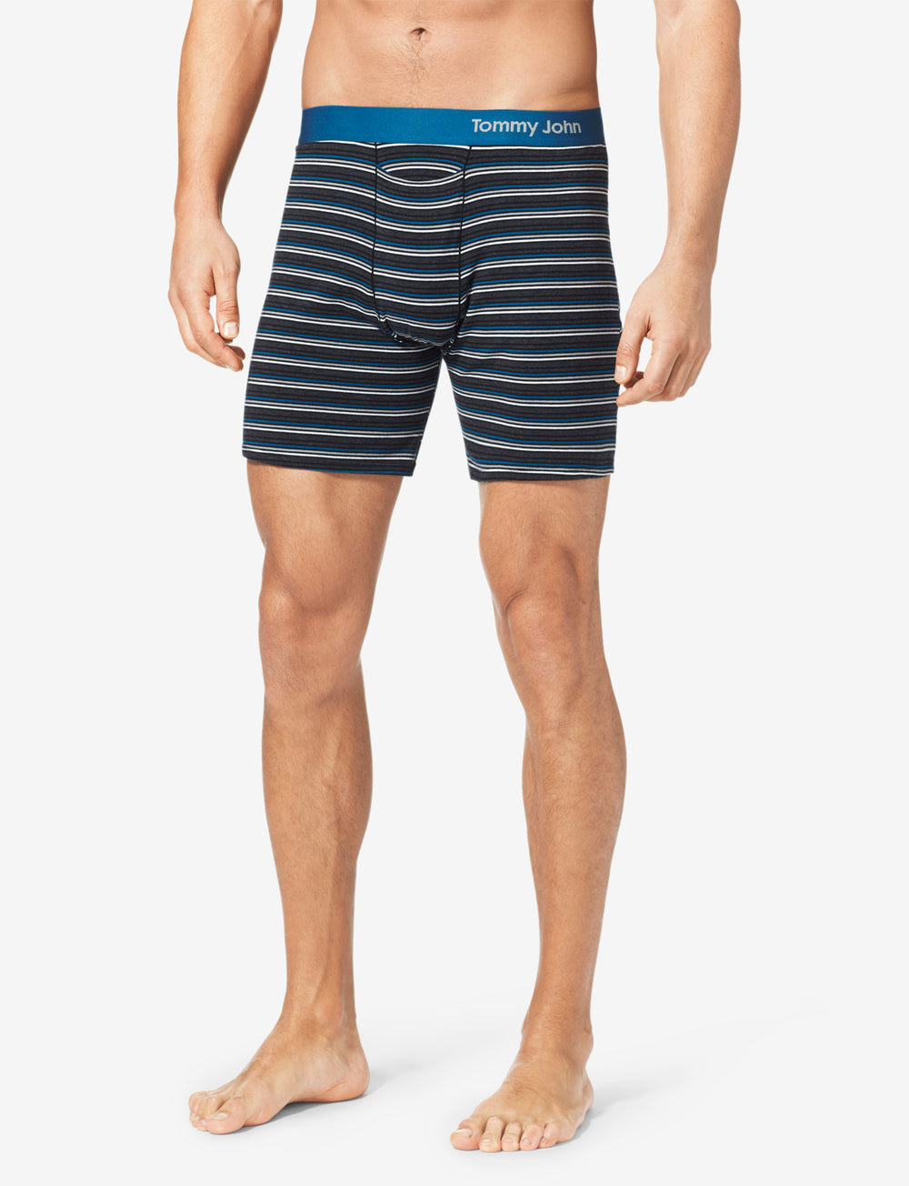 Cool Cotton Stripe Relaxed Fit Boxer Details Image