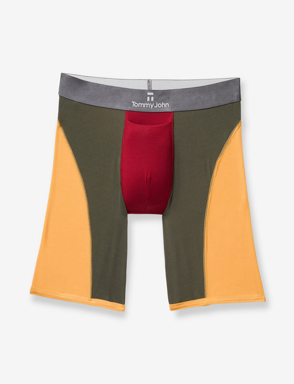 Second Skin Dark Titanium Colorblock Boxer Brief