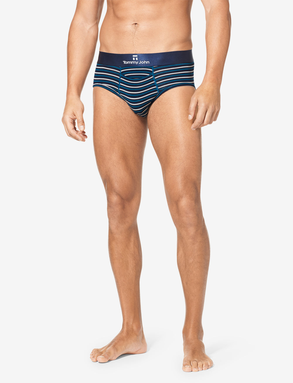 Second Skin Dress Blues Titanium Stripe Brief 2.0 Details Image