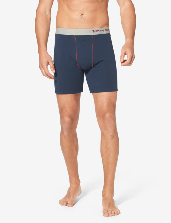 Cool Cotton Contrast Stitch Relaxed Fit Boxer