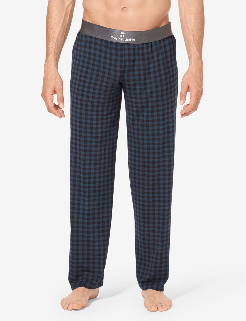 Second Skin Gingham Sleep Pant Details Image