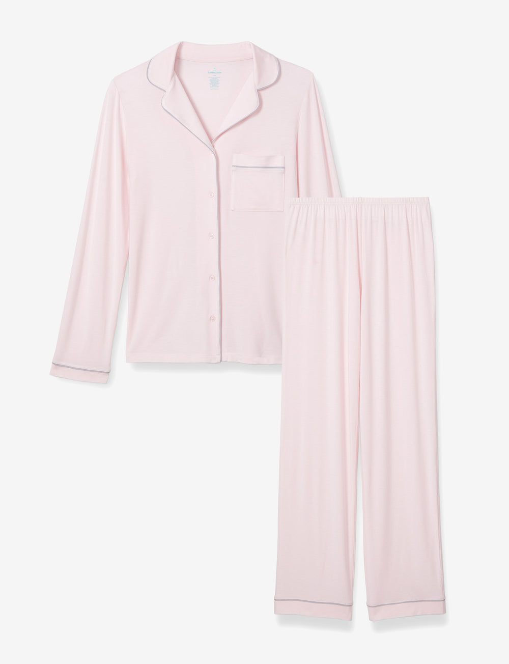 Mother's Day PJ Set Blush Long Sleeve Top & Pant Details Image