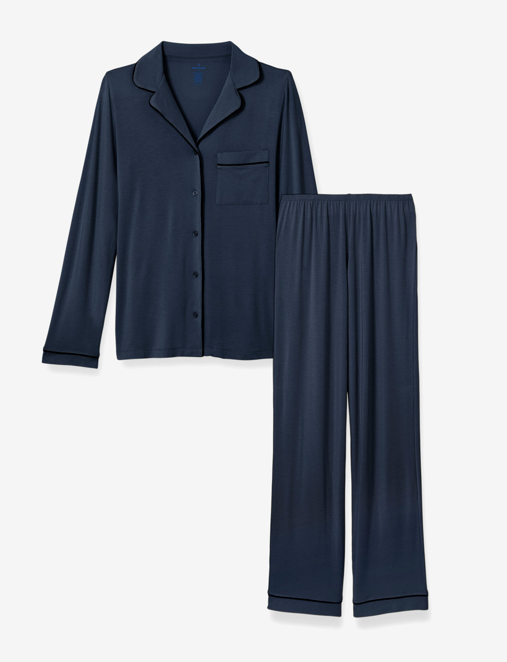 Mother's Day PJ Set Navy Long Sleeve Top & Pant Details Image