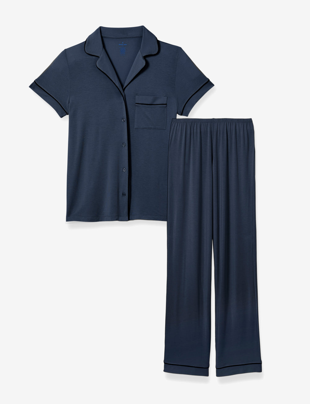 Mother's Day PJ Set Navy Top & Pant Details Image