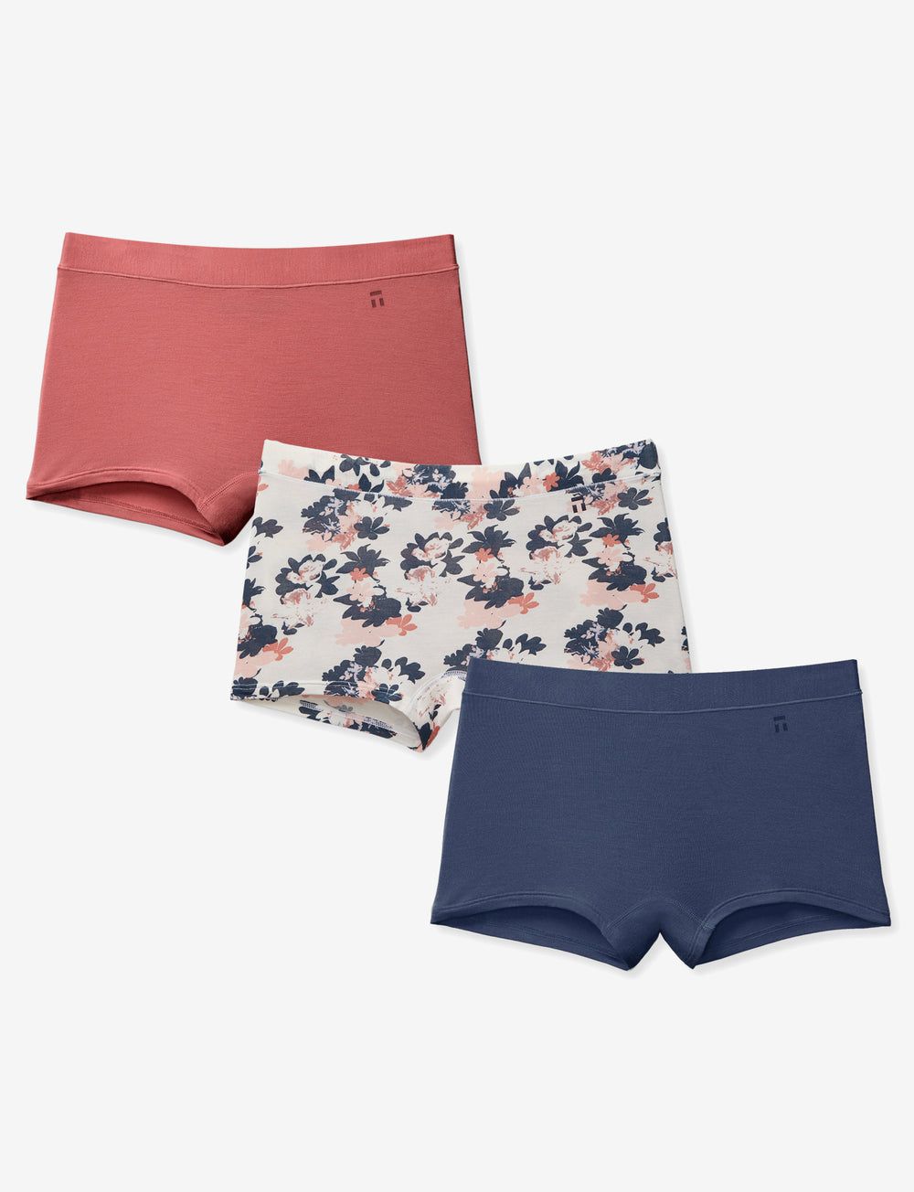 Women's Second Skin Boyshort 3 Pack Details Image
