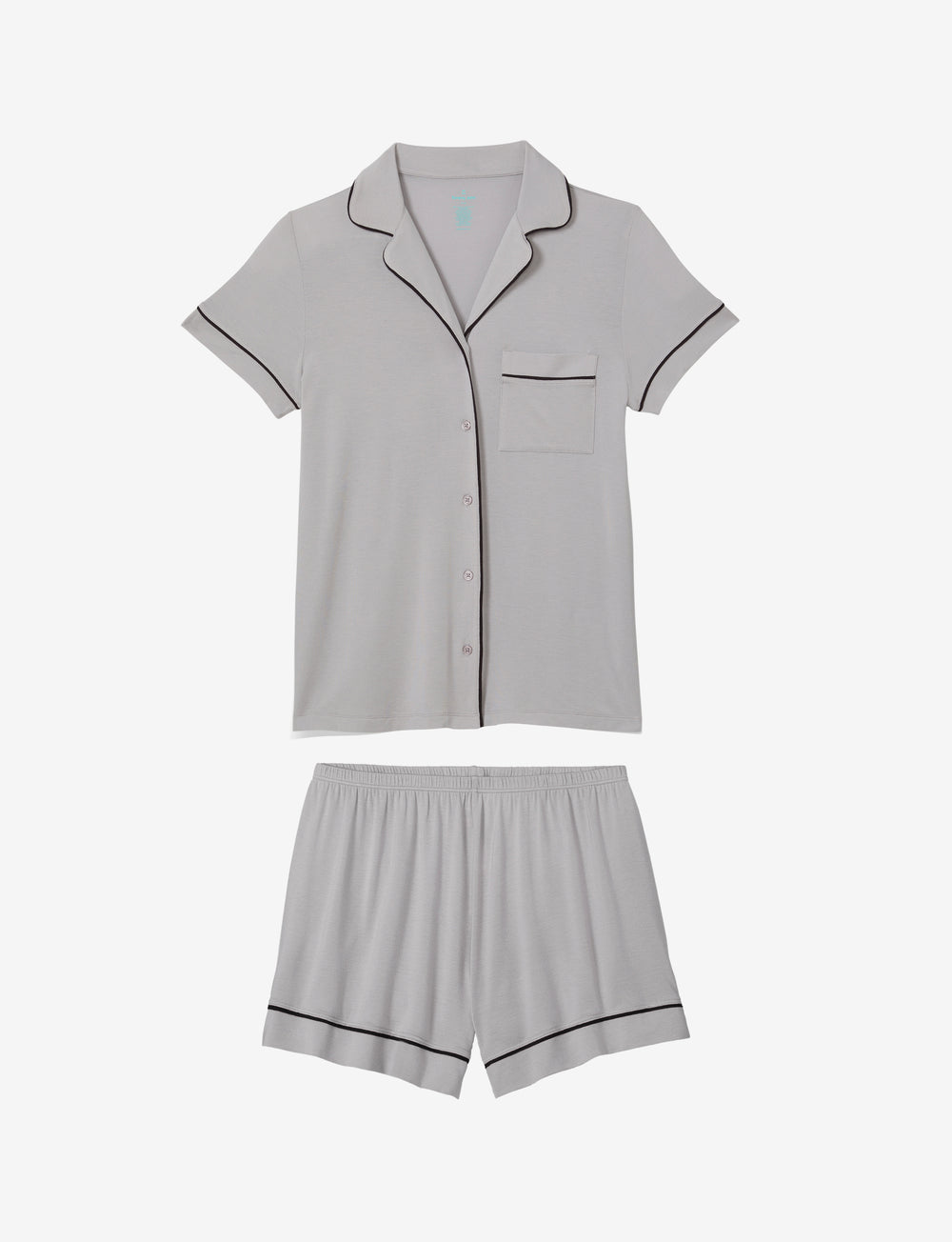 Mother's Day Silver Sconce Pajama Top & Short Set Details Image