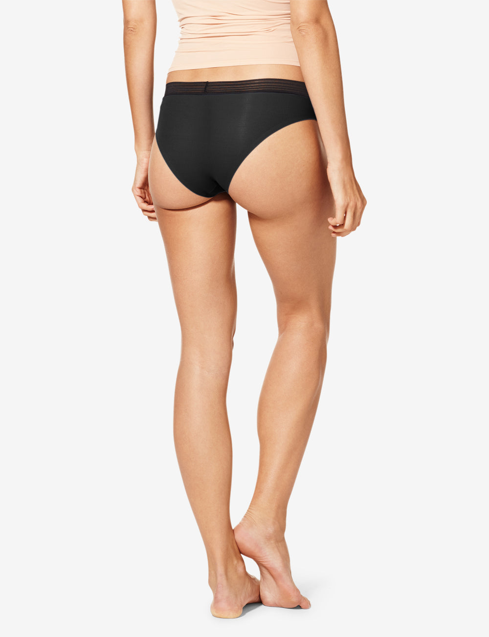 Women's Air Sheer Stripe Elastic Cheeky Details Image