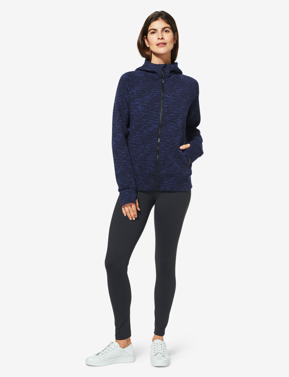 Women's Go Anywhere® Full Zip Spacer Hoodie Details Image