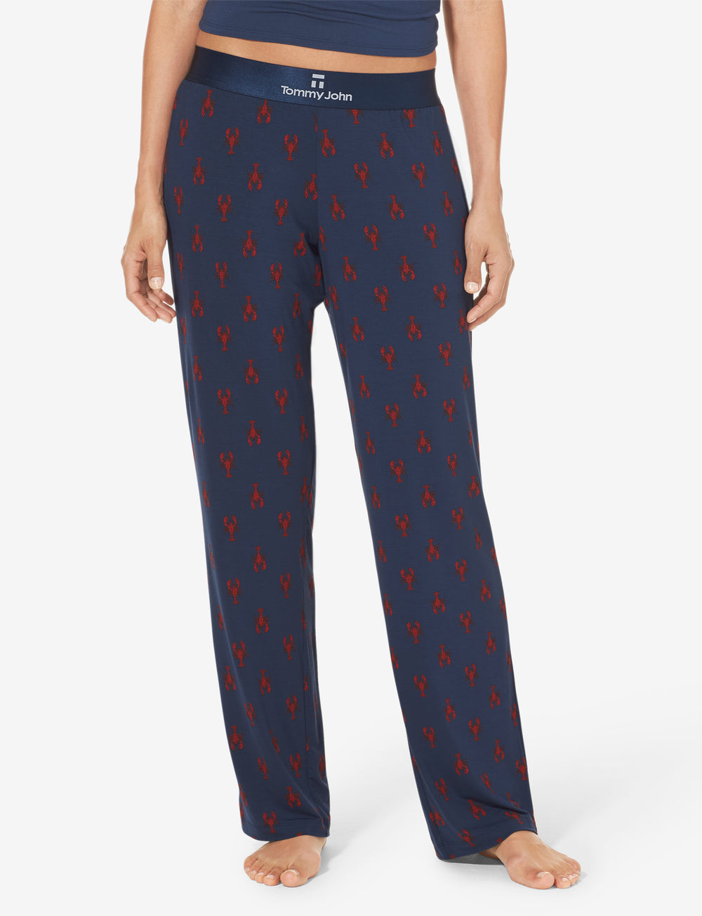 Women's Second Skin Lobster Print Lounge Pant Details Image