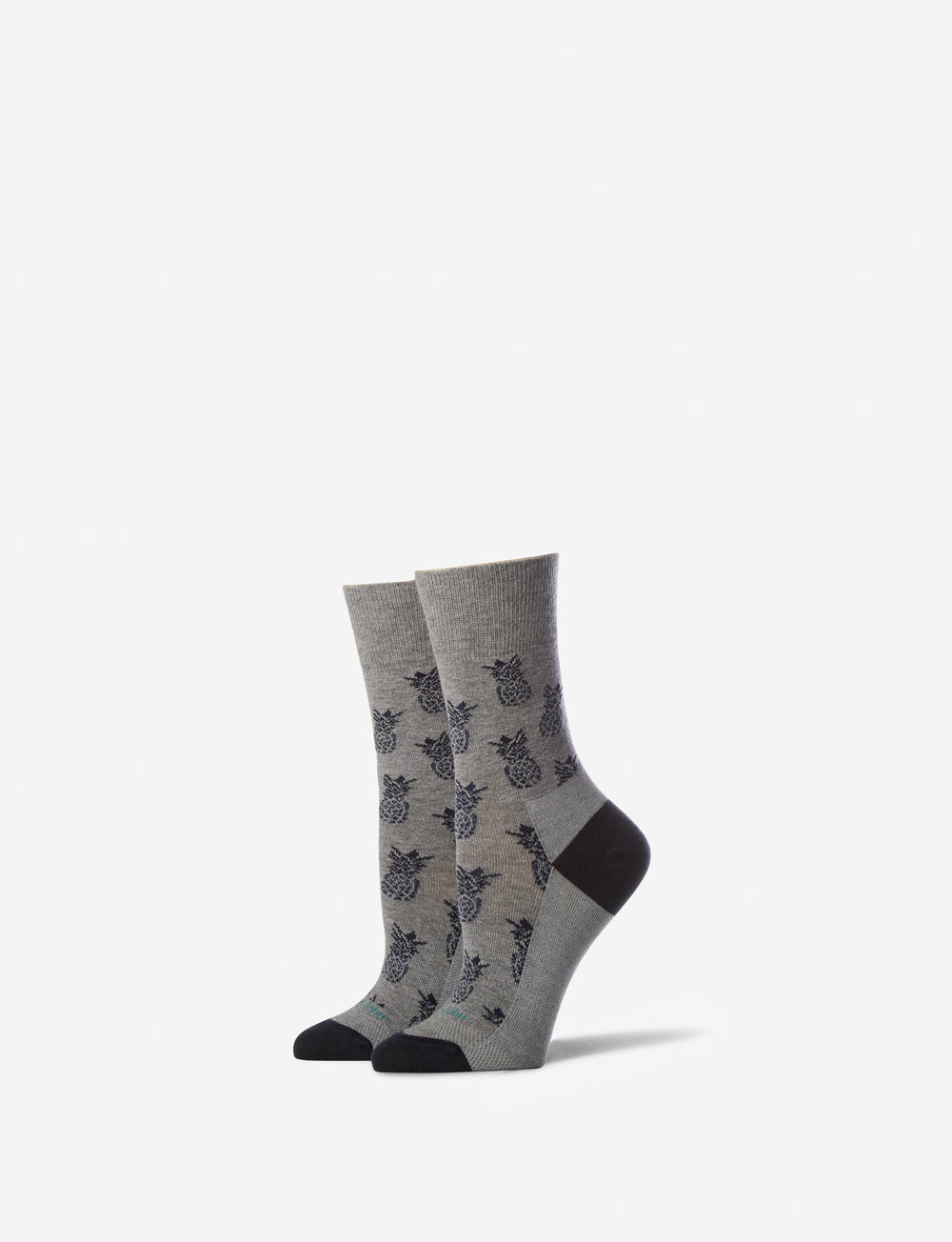Women's Pineapple Stay Up Dress Sock Details Image
