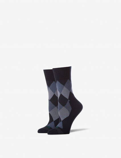 Women's Argyle Stay Up Dress Sock