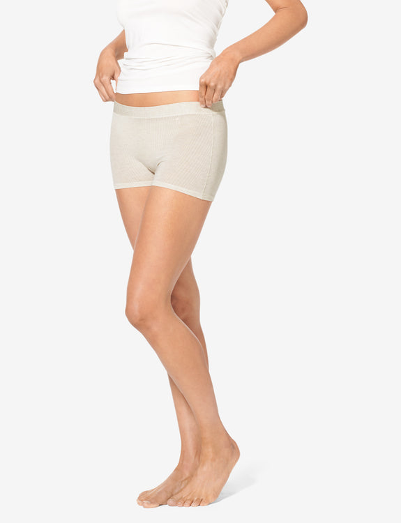 Women's Second Skin Boyshort, Luxe Rib