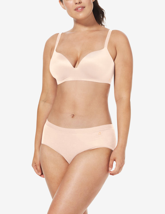 Second Skin Lightly Lined Demi Bra, Solid