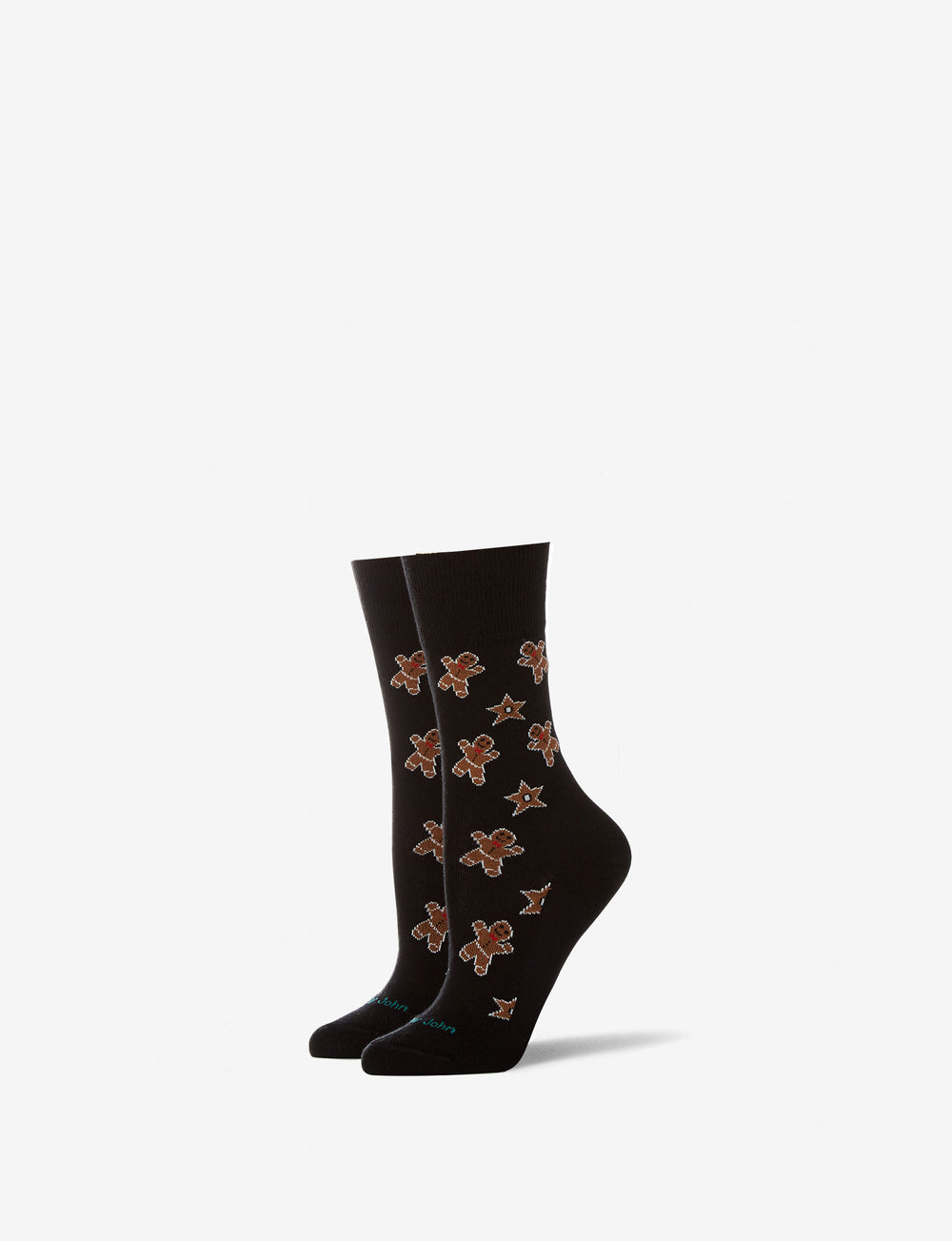 Women's Gingerbread Stay Up Dress Sock Details Image